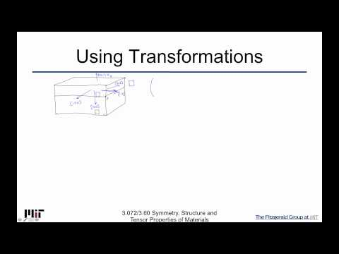 Symmetry Structure and Tensor Properties of Materials Lecture 73