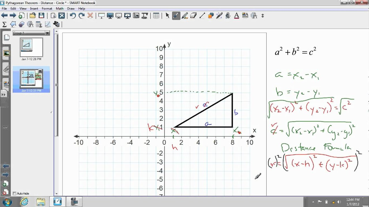 Finding Distance by using the Pythagorean Theorem - ppt video ...