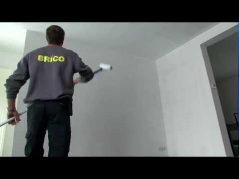 Pr paration des murs rebouchages lissage bricolage ave doovi - Comment enduire un plafond ...