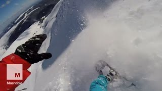 Snowboarder survives avalanche and captures it all on camera | Mashable