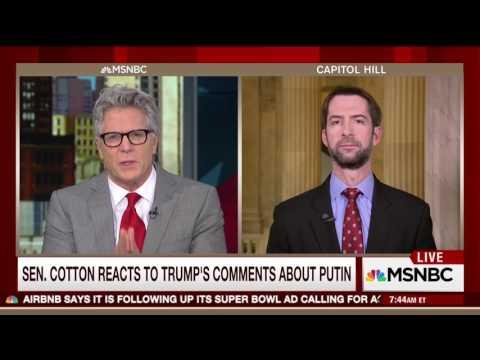 February 7, 2017: Sen. Cotton joins MSNBC