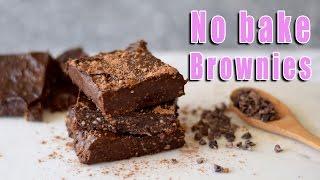 CHOCOLATE BROWNIES RAW VEGAN | HEALTHY DESSERT NO BAKE RECIPE