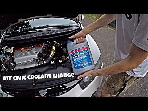 Honda Civic Si Engine Coolant Replacement DIY (2006 2011 Si)