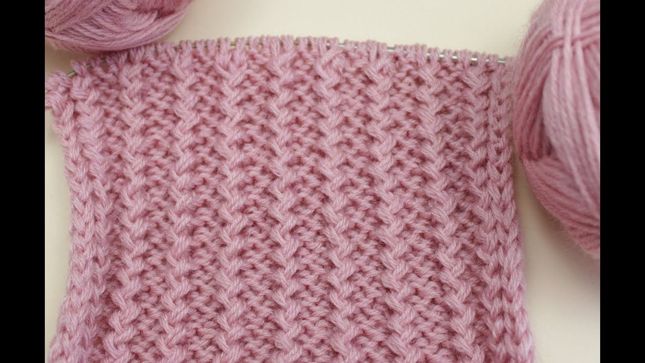 вязание спицами для начинающих французская резинка Knitting For Beginners Rick Rack Pattern