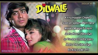 Dilwale Lyrical Songs Jukebox With Dialogues   Ajay Devgan, Raveena Tandon   INDIAN MUSIC