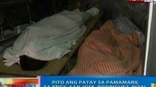NTG: 7 ang patay sa pamamaril sa Brgy. San Jose, Rodriguez, Rizal