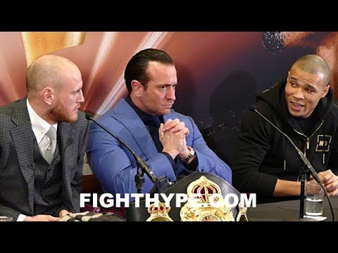 CHRIS EUBANK JR. AND GEORGE GROVES ARGUE, EXCHANGE BANTER, AND TRADE DISSES; BOTH READY TO FIGHT