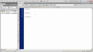 Fundamentals of HTML in Dreamweaver CS5 - Part 1