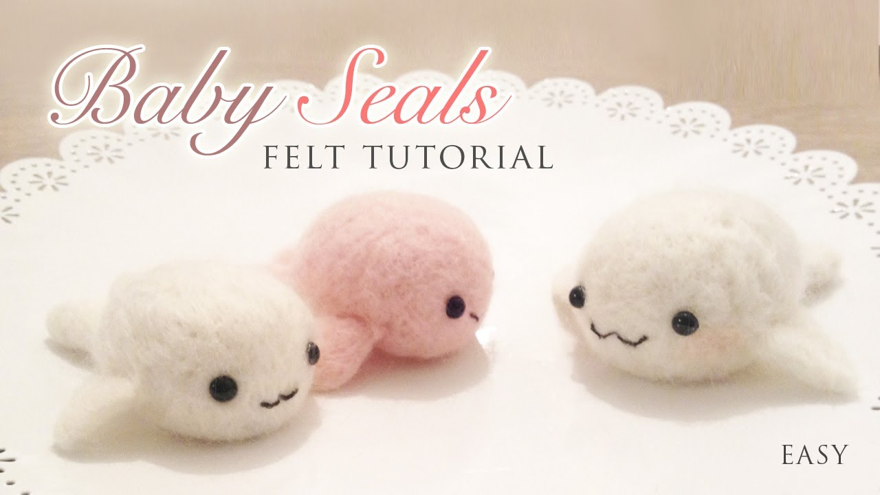 Making Baby Seals With Needle Felt