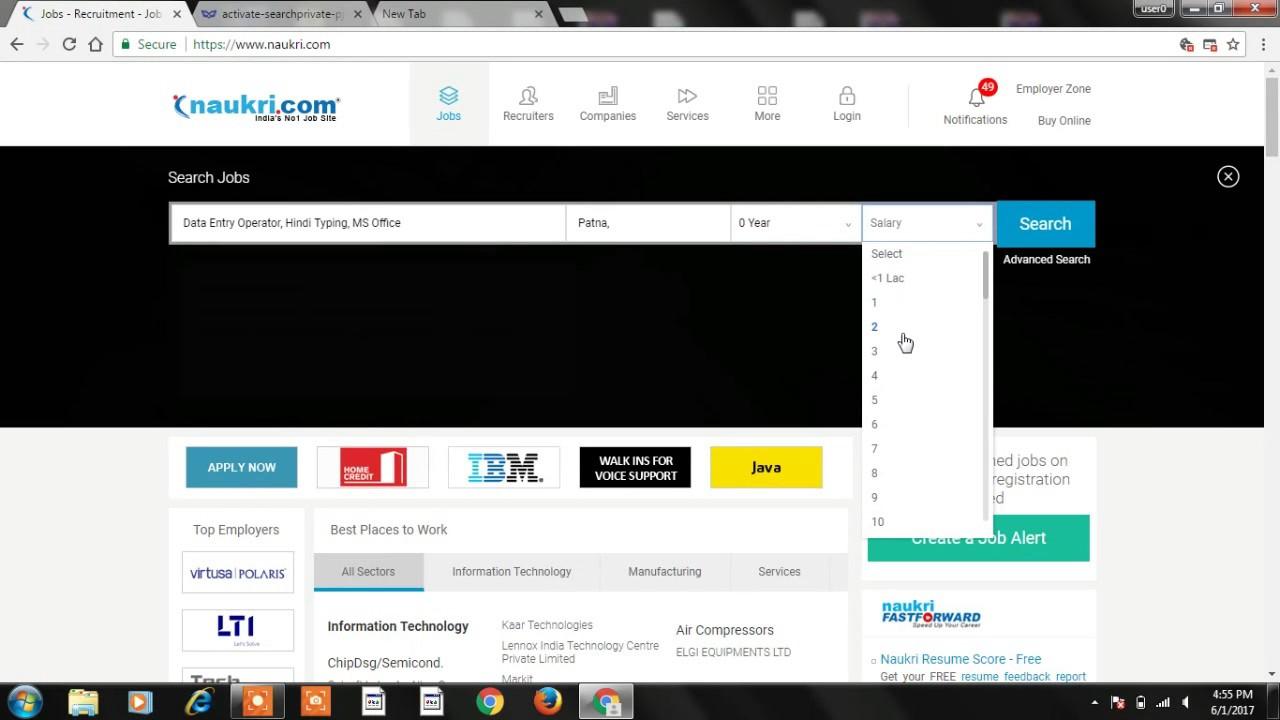 How To Search Jobs On Naukri Com Youtube