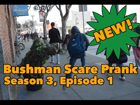 Bushman Scare Prank #301 – San Francisco!! | Ryan Lewis Pranks