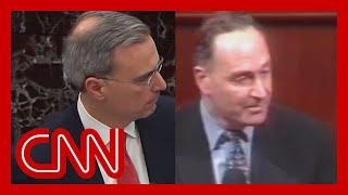 Trump legal team's closing video draws laughter in Senate