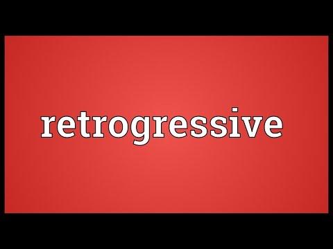 Header of retrogressive