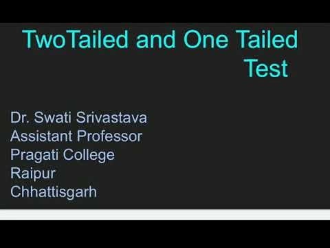 Two Tailed And  One Tailed Test Of Significance