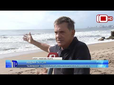 Telediario | Arena Sucia en Mar del Plata: Surfrider trabaja por la concientización ambiental
