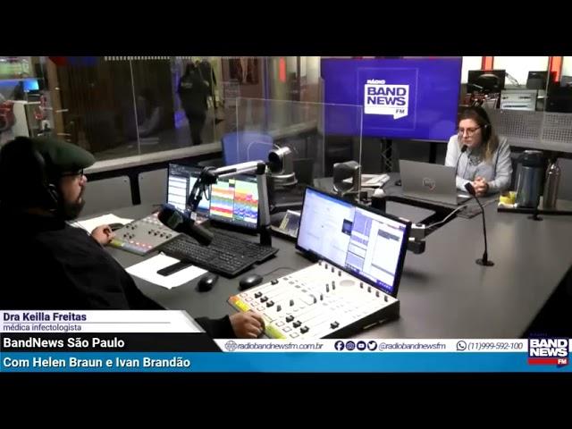 Rádio Band News 29-06-2021 Entrevista Dra Keilla