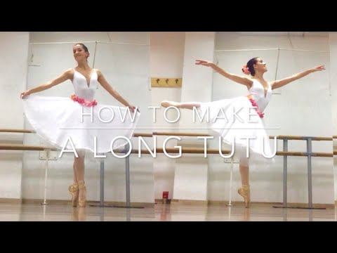 HOW TO MAKE A BALLET TUTU (LONG SKIRT, GISELLE/ COPPELIA STYLE)