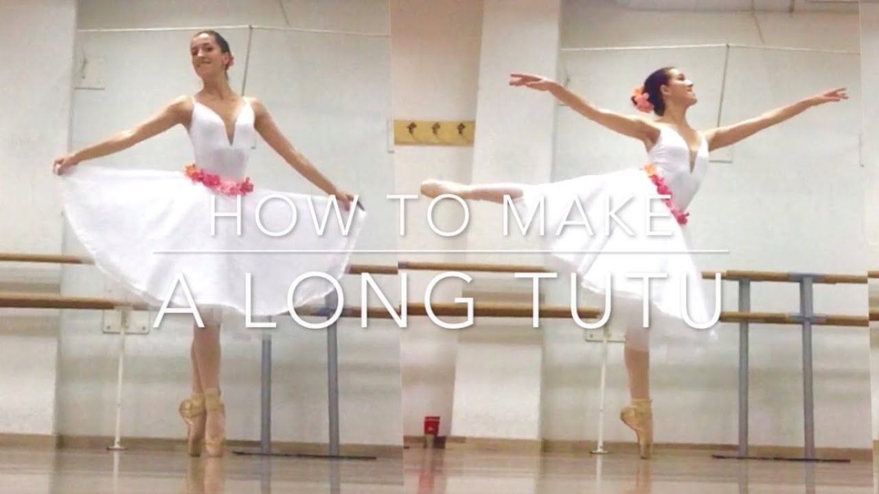 HOW TO MAKE A BALLET TUTU LONG SKIRT GISELLE COPPELIA STYLE