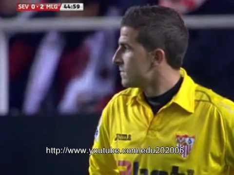La Liga: Sevilla FC - Málaga CF / Gol de Duda min 45