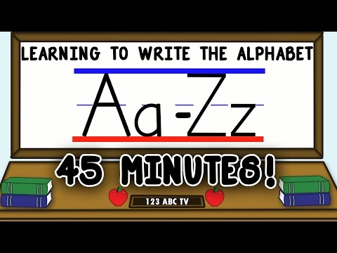 How to Write Letters A-Z – Learning to Write the Alphabet for Kids – Uppercase and Lowercase Letters