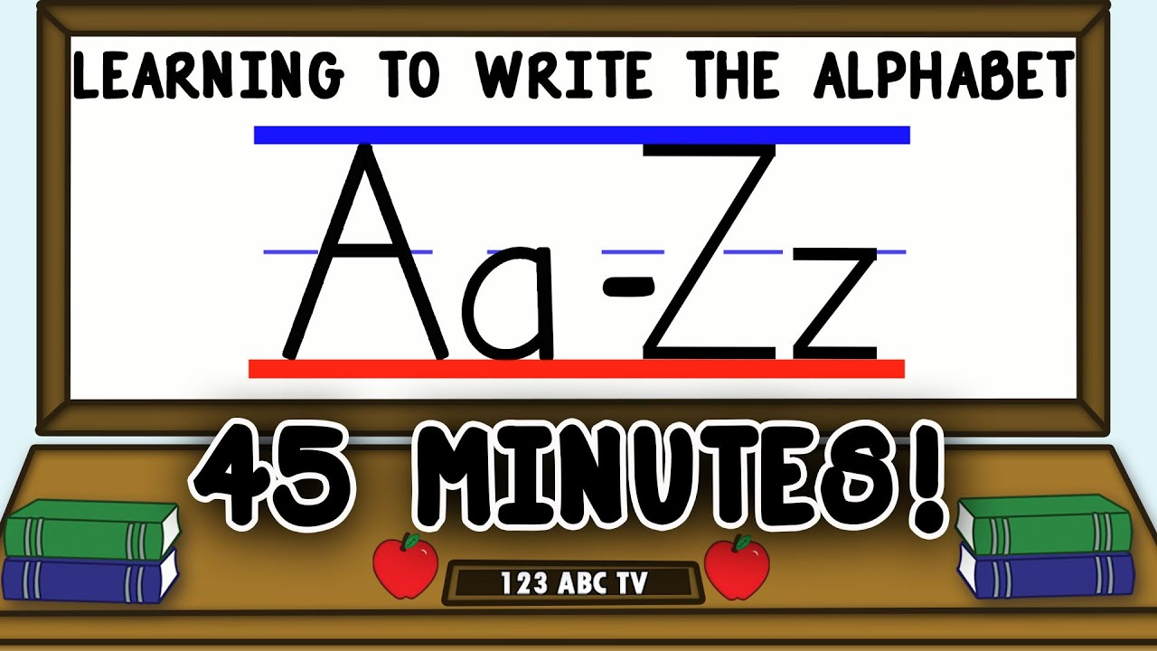 How To Write Letters AZ  Learning To Write The Alphabet For Kids   Uppercase And Lowercase Letters