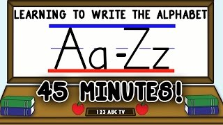 How to Write Leтters A-Z – Learning to Write the Alphabet for Kids – Uppercase and Lowercase Letters