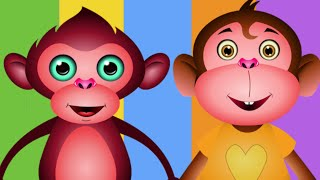 Five Little Monkeys Jumping On The Bed | Nursery Rhymes Collection