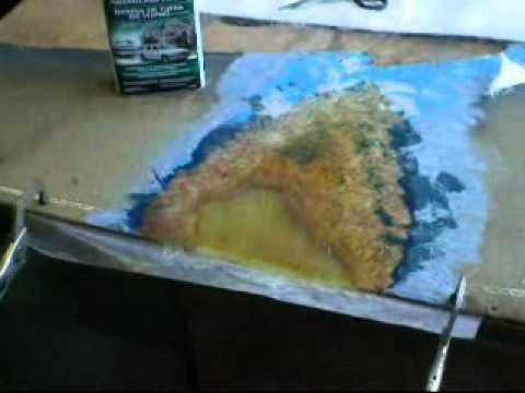 How to make a fiberglass repair on a fiberglass panel for How is fiberglass made