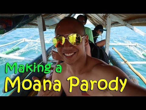 MAKING A MOANA PARODY (Hundred Islands, Philippines) | April 7th, 2017 | Vlog #77