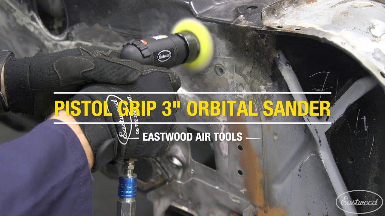 Eastwood Pistol Grip 3In Composite Orbital Sander Comfort Durable Lightweight