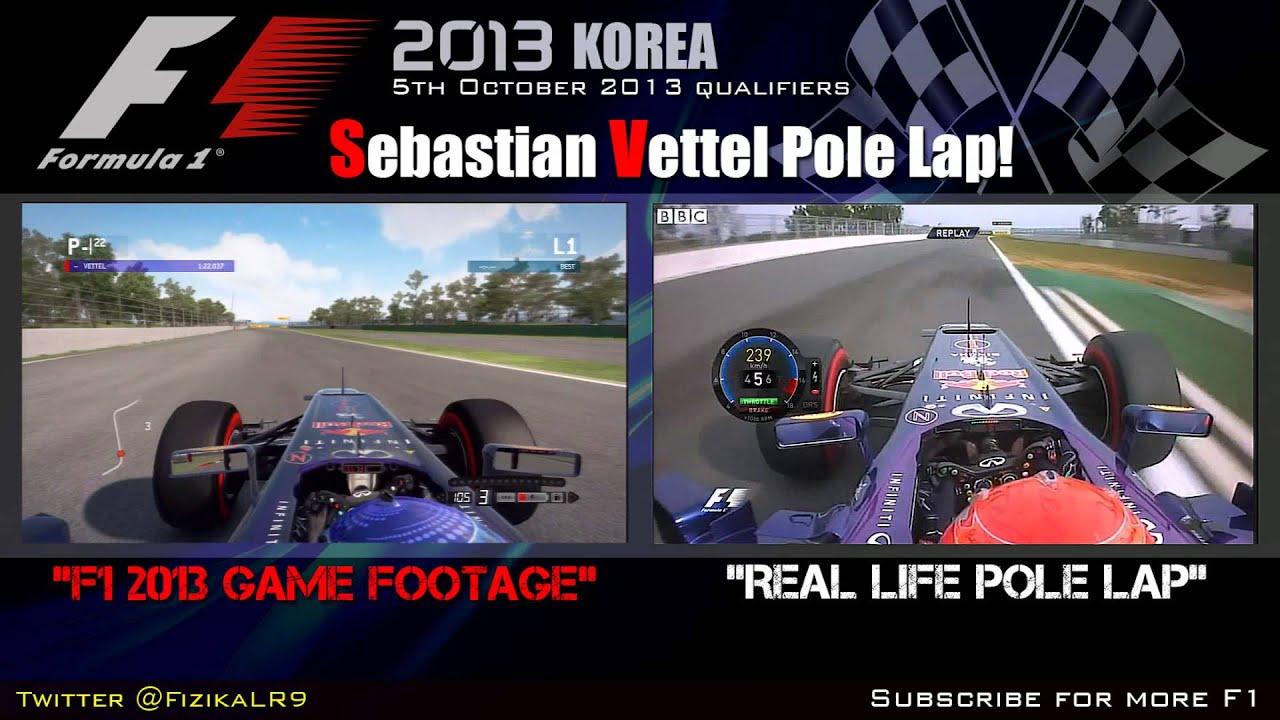 f1 2013 korean pole position lap by sebastian vettel youtube. Black Bedroom Furniture Sets. Home Design Ideas
