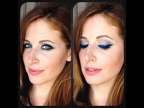 Makeup Tutorial Trucco Eyeliner BLU Ombre'
