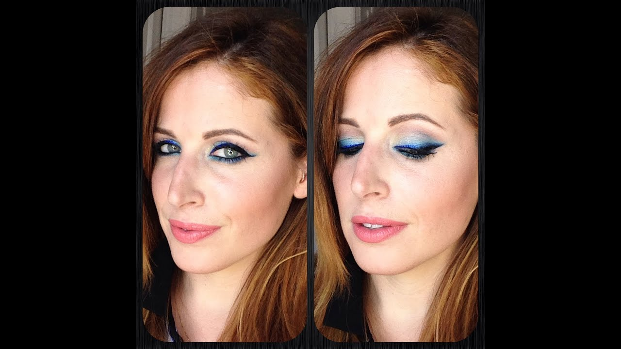 Souvent Makeup Tutorial Trucco Eyeliner BLU Ombre' - YouTube RU16