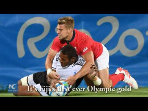 Fiji takes first ever Olympic gold after historic win in rugby sevens final