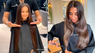 Trendy Long to Short Haircut Transformation   Beautiful Hairstyles Tutorial for Girls