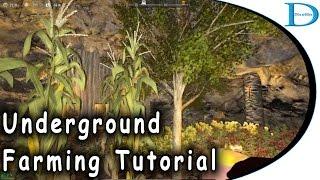 Underground Farming Tutorial - 7 Days To Die Alpha 15 - Underground Garden