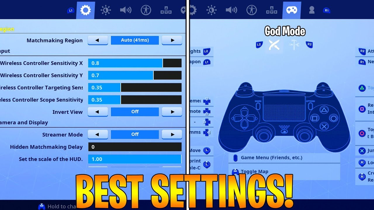 Best Fortnite Console Settings Ps4 Xbox Season 6 Fortnite Best Console Settings Controller Binds Youtube