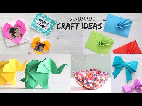 5 Easy Handmade Craft Ideas | Handcraft | DIY Activities