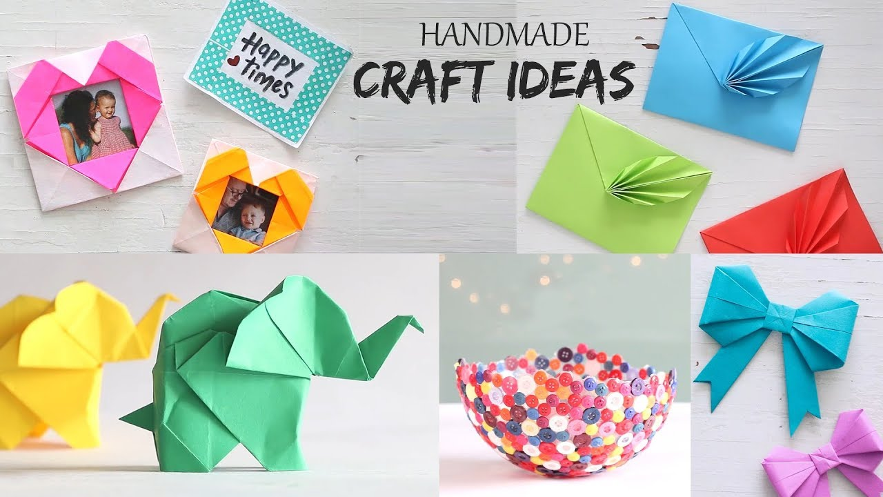 5 Easy Handmade Craft Ideas Handcraft Diy Activities Youtube