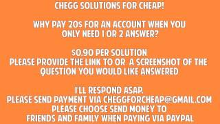 Get Chegg Solutions Here!