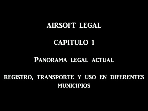 AIRSOFT LEGAL 1: Panorama legal actual