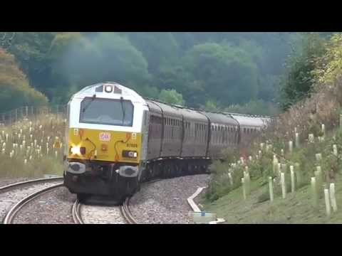 Trains at Stow on the Scottish Borders Railway