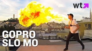 Go Pro Array Slow Mo Of Fire Breathing | What's Trending Now