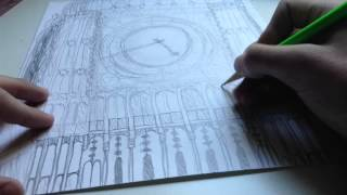 Clock Tower Draw Timelapse