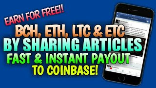 EARN DIFFERENT CRYPTOCURRENCY IN ONE APP! INSTANT AND FAST PAYOUT TO COINBASE!