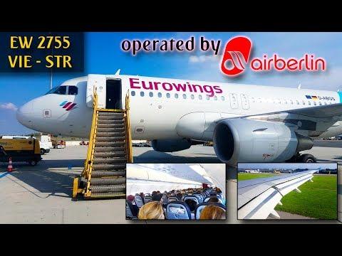 TRIP REPORT | Eurowings (Air Berlin) | VIENNA - STUTTGART | Airbus A319