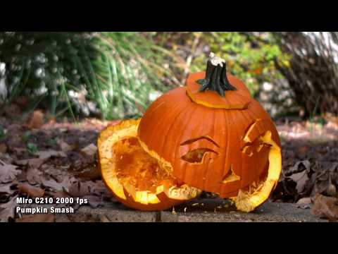 Smashing Pumpkins with a Vision Research C210 Digital High-Speed Camera