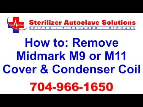 How to repair midmark M11d/m9 autoclave ( take top cover off)