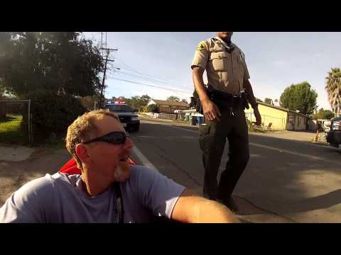 Pulled over by the San Diego Sheriff's Police Department while riding my velomobile