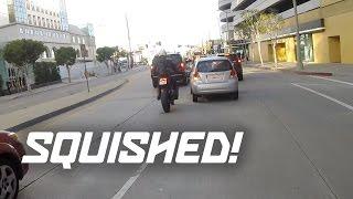 Car vs Motorcycle (Lane Splitting)